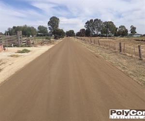 A road stabilised with PolyCom in northern NSW