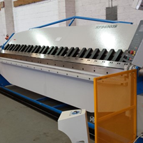 Our panbrake machine that we use to create customised sheet metal