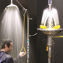 Emergency Stainless Steel Safety Showers | Enware