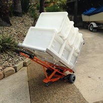 Electric trolley makes laundry handling easier & safer at beach resort